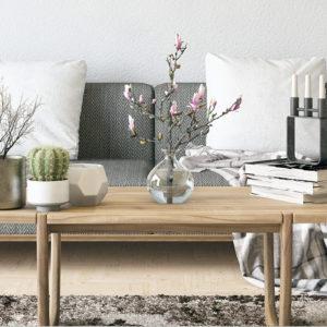 Aménagement de salon au style scandinave